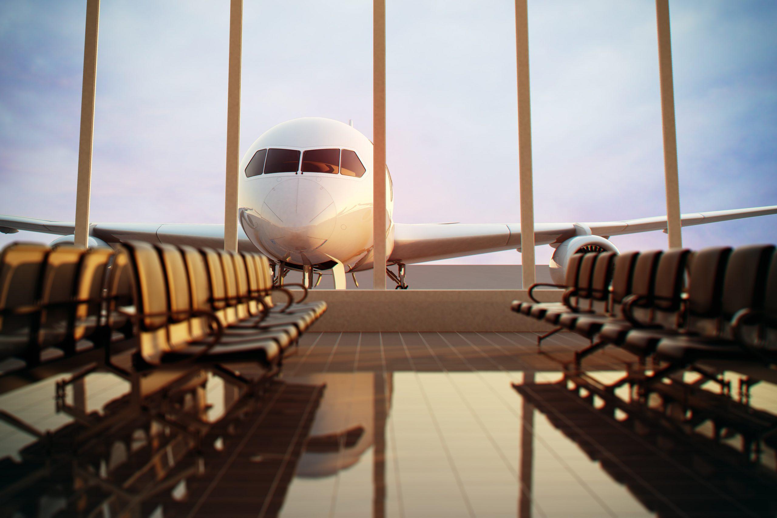 Plane at TF Green Airport