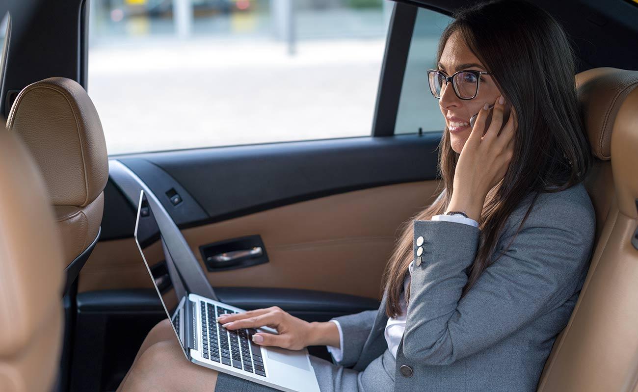 Women in Back Seat of Car